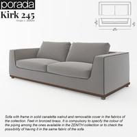 3d porada kirk 245 sofa model