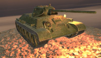 Tank, T34 Low Poly