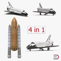 3d space shuttles 2