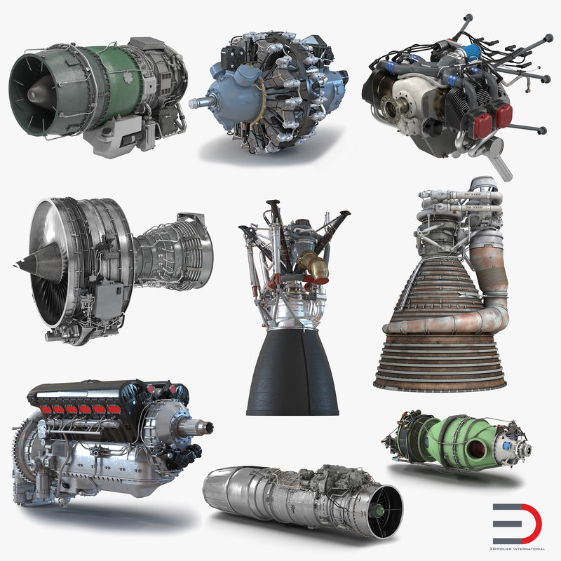 Aircraft Engines Collection 3d models 001.jpg