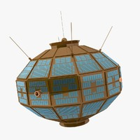 3d model alouette 1 satelitte