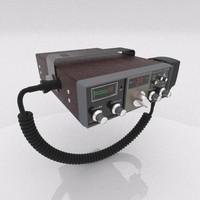 trc-427 citizens band radio 3d model