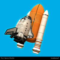 3d space shuttle toon