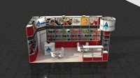 fair stand exhibition moduler 3d max