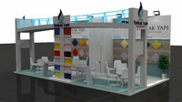 fair exhibition wooden stand 3d model