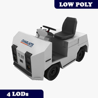 charlatte te-208 baggage tractor 3d model