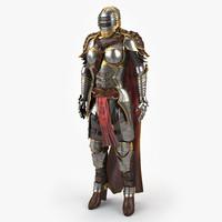 3d women s medieval armor model