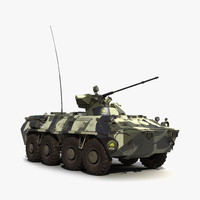 3d model btr 80a rigged