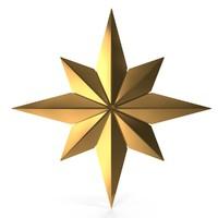 gold star 3d model