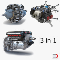 Piston Aircraft Engines Collection 2