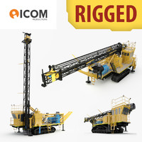 3d rigged drilling machine model