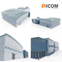 business headquarters 3d model