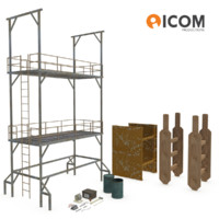 3d construction tools equipment model