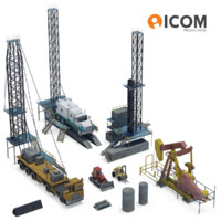 drilling equipment vehicles 3d model