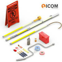3d electrician tools box model