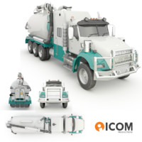 3d hydro excavation hydrovac truck model