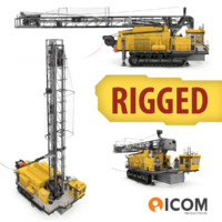 3d model drilling rig blasthole