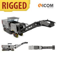 Asphalt Milling Machine Rigged