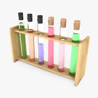 3d test tube rack