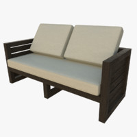 3d outdoor sofa model