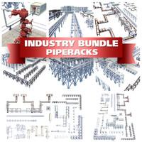 pipe racks blocks 3ds
