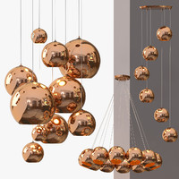 lamp copper chandelier shade max
