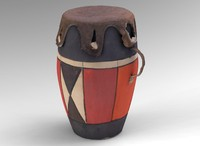 small african drum 3d obj