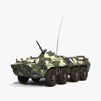 3d btr 80 rigged