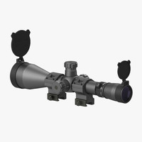 professional military scope 3d model