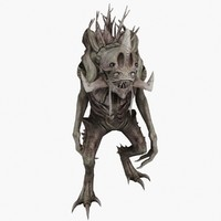3d tree monster character animations model