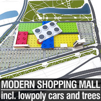 shopping mall 3d obj