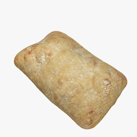 3d ciabatta bread model