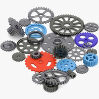 3d model gear wheels