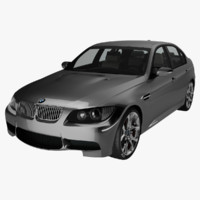 bmw series e90 car 3d 3ds