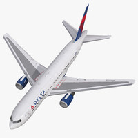 3d boeing 767-200 delta air lines