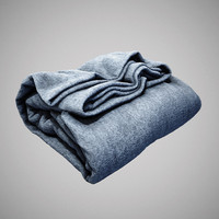 folded cloth blanket obj