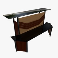 reception table 3d 3ds
