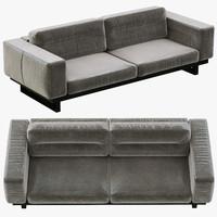 restoration hardware durrell leather sofa 3d obj