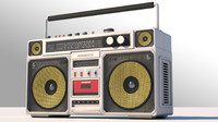 3d model boombox eighties
