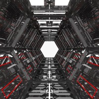 abstract corridor 3d model