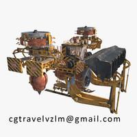 3d sci fi tractor model