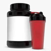 3d model bottle shaker cup