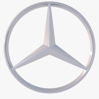 free mercedes-benz logo 3d model