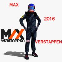 verstappen 2016 3d max