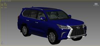 3d model of lexus lx-570 2016