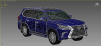 3d model lexus lx-570 2016