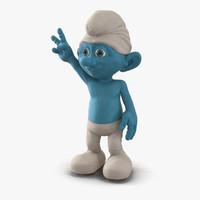 smurf pose 4 3d max