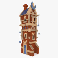 3d model of house woods