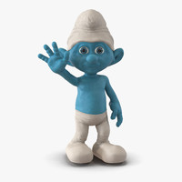3d smurf pose 2 fur