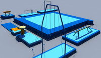 gymnastic equipment gym 3d model